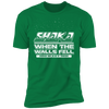 Shaka When the Walls Fell - T-Shirt-T-Shirt-CustomCat-Men's T-Shirt-Kelly Green-S