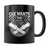 She Wants the D - 11oz/15oz Black Mug-Coffee Mug-CustomCat-11oz Mug-Black-