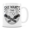 She Wants the D - 11oz/15oz White Mug-Coffee Mug-CustomCat-11oz Mug-White-