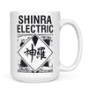 Shinra Electric - 11oz/15oz White Mug-Coffee Mug-CustomCat-15oz Mug-White-