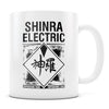 Shinra Electric - 11oz/15oz White Mug-Coffee Mug-CustomCat-11oz Mug-White-