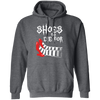 Shoes to Die For - Hoodie-Hoodie-CustomCat-Dark Heather-S-