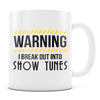 Show Tunes - 11oz/15oz White Mug-Coffee Mug-CustomCat-11oz Mug-White-