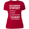 Sorry I Have Rehearsal - T-Shirt-T-Shirt-CustomCat-Women's T-Shirt-Red-X-Small
