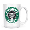 Stargate Coffee - 11oz/15oz White Mug-Coffee Mug-CustomCat-15oz Mug-White-