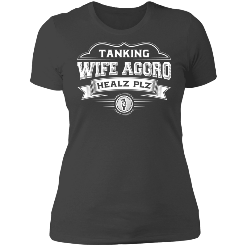 Tanking Wife Aggro Healz Plz - T-Shirt-T-Shirt-CustomCat-Women's T-Shirt-Black-X-Small