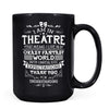 Theatre Thanks - 11oz/15oz Black Mug-Coffee Mug-CustomCat-15oz Mug-Black-