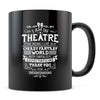 Theatre Thanks - 11oz/15oz Black Mug-Coffee Mug-CustomCat-11oz Mug-Black-