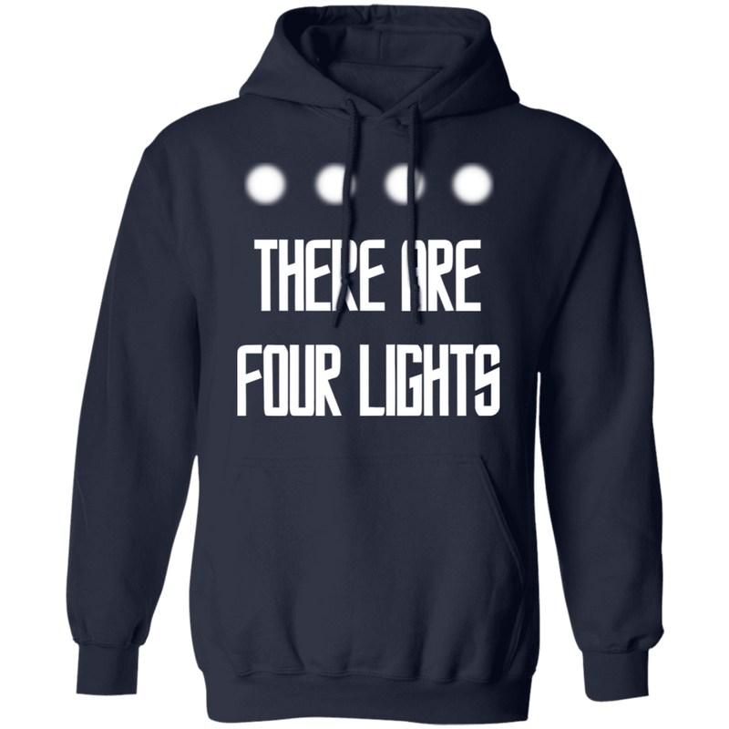 There Are Four Lights - Hoodie-Hoodie-CustomCat-Black-S-
