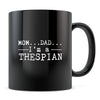 Thespian - 11oz/15oz Black Mug-Coffee Mug-CustomCat-11oz Mug-Black-
