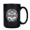 Trashcan Carla - 11oz/15oz Black Mug-Coffee Mug-CustomCat-15oz Mug-Black-