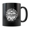Trashcan Carla - 11oz/15oz Black Mug-Coffee Mug-CustomCat-11oz Mug-Black-