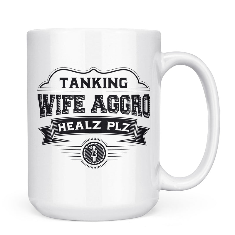 Wife Aggro - 11oz/15oz White Mug-Coffee Mug-CustomCat-11oz Mug-White-