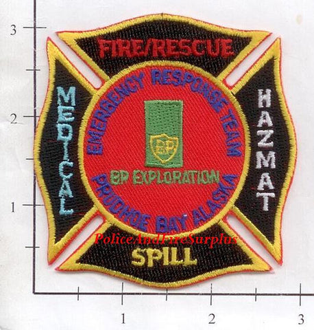 Alaska - Prudhoe Bay Emergency Response Team Fire Dept Patch