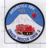Antarctica - Crash Fire Rescue Crew 2 Fire Dept Patch
