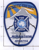 Antarctica - McMurdo Station Crash Fire Rescue Fire Dept Patch
