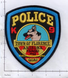 Arizona - Florence K-9 Police Dept Patch