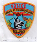 Arizona - Williams K-9 Police Dept Patch