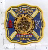 Arkansas - Camp Robinson Army Airfield Crash Fire Rescue Fire Dept Patch
