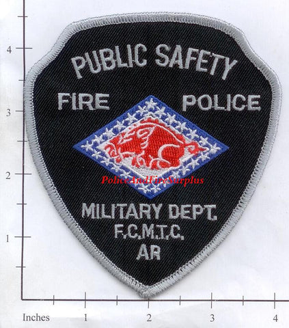 Arkansas - Fort Chaffee Maneuver Training Center Fire Police Patch - Vintage