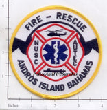 Bahamas - Andros Island Fire Rescue Fire Dept Patch v2
