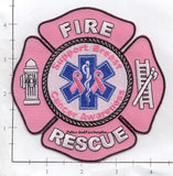 Breast Cancer - EMS Fire Rescue Fire Dept Patch v1