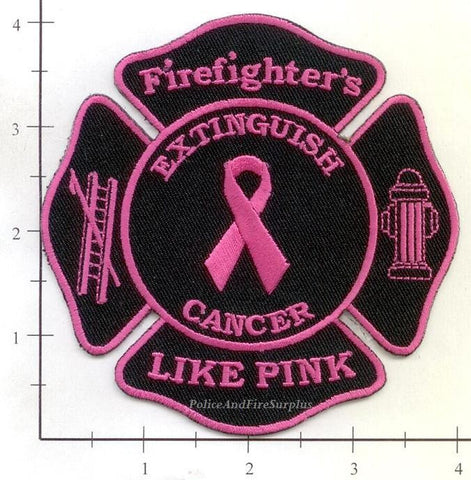 Breast Cancer - Firefighter's Link Pink Fire Dept Patch v2