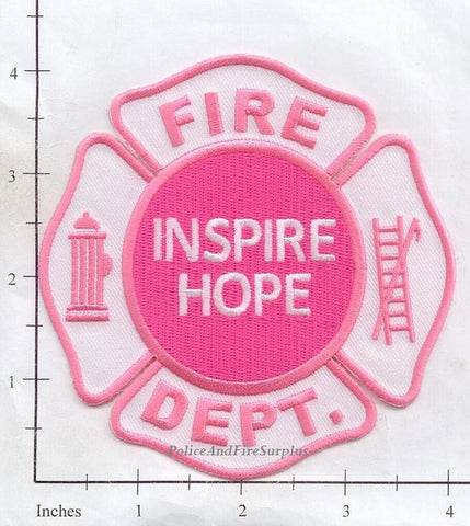 Breast Cancer - Inspire Hope Fire Dept Patch v1