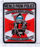 California - Menlo Park Narcotics Enforcement Team Police Dept Patch