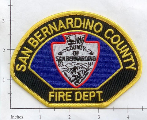 California - San Bernardino County Fire Dept Patch