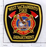 California - West Sacramento Fire Dept Patch