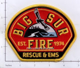 California - Big Sur Fire, Rescue & EMS Patch