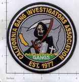 California - California Gang Investigators Association Police Dept Patch v1