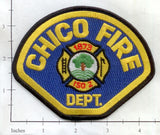California - Chico Fire Dept Patch