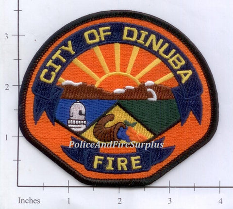California - Dinuba Fire Dept Patch