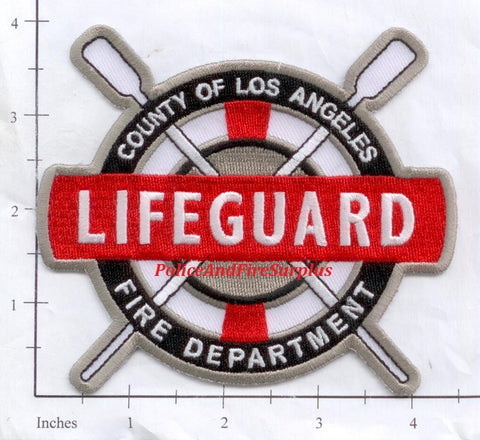 California - Los Angeles County Lifeguard Fire Dept Patch