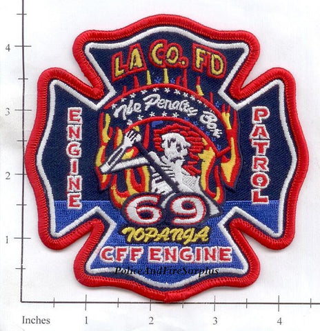 California - Los Angeles County Station  69 Fire Dept Patch