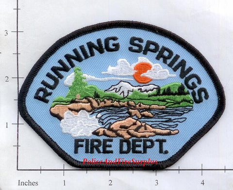 California - Running Springs Fire Dept Patch
