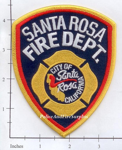 California - Santa Rosa Fire Dept Patch v2
