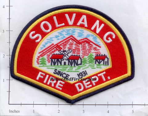 California - Solvang Fire Dept Patch