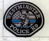 California - Westminster K-9 Police Dept Patch