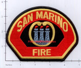 California - San Marino Fire Dept Patch