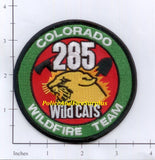 Colorado - 285 Wildcats Wildfire Team Fire Dept Patch