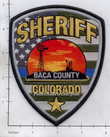 Colorado - Baca County Sheriff Police Dept Patch