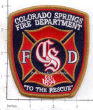 Colorado - Colorado Springs Fire Dept Patch