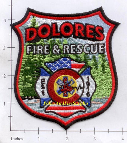 Colorado - Dolores Fire Rescue Fire Dept Patch