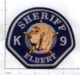 Colorado - Elbert County Sheriff K-9 Police Dept Patch