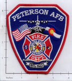 Colorado - Peterson Air Force Base Fire Dept patch