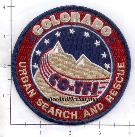 Colorado - Urban Search and Rescue Task Force 1 Fire Dept Patch