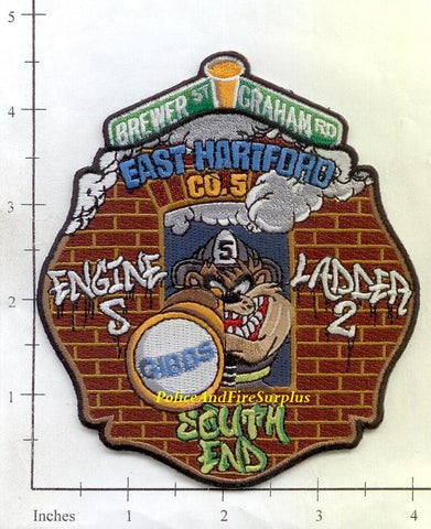 Connecticut - Hartford Engine  5 Ladder 2 Fire Dept Patch v1
